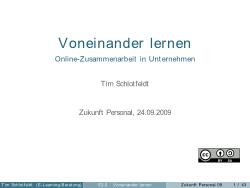 Screenshot Vortragsfolie